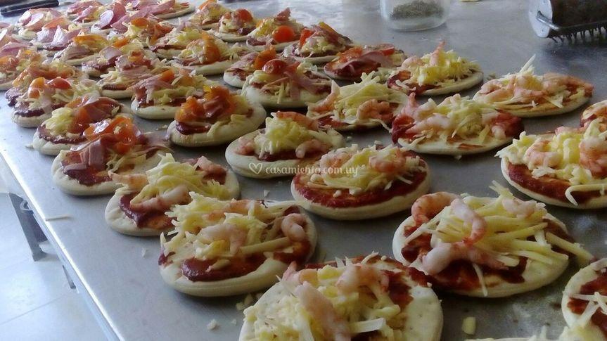 Catering pizzetas