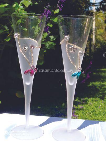 Copas de cristal para bodas