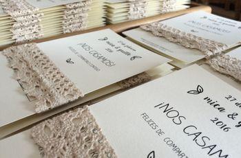 Invitaciones únicas para casamientos rústicos