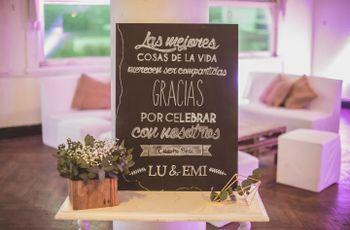 6 ideas con encanto para incluir pizarras en la decoración del casamiento