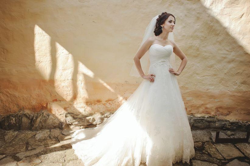 tipos de cola del vestido de novia