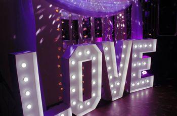 Ideas para decorar el casamiento con letras gigantes, una apuesta moderna y divertida