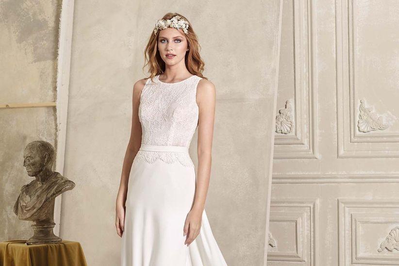 17dd882bb 50 vestidos de novia sencillos  naturalidad para tu look