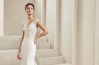 Vestidos Alma Novia 2019, glamour y elegancia para tu look