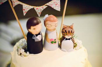 ¿Cómo elegir el cake topper para la torta de casamiento?