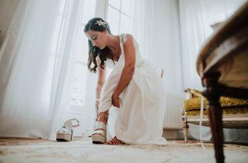 9 consejos para sentirte cómoda con tus zapatos de novia
